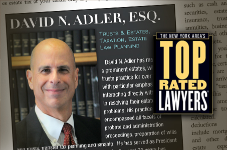 David N. Adler; New York Area's Top Rated Lawyers
